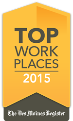 Des Moines Register Top Workplace Award