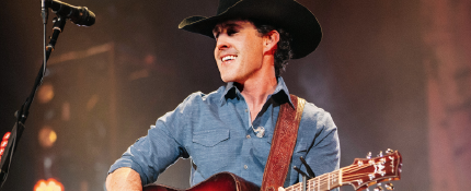 Singer Aaron Watson at Nitefall on the River