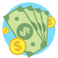 Money with coins